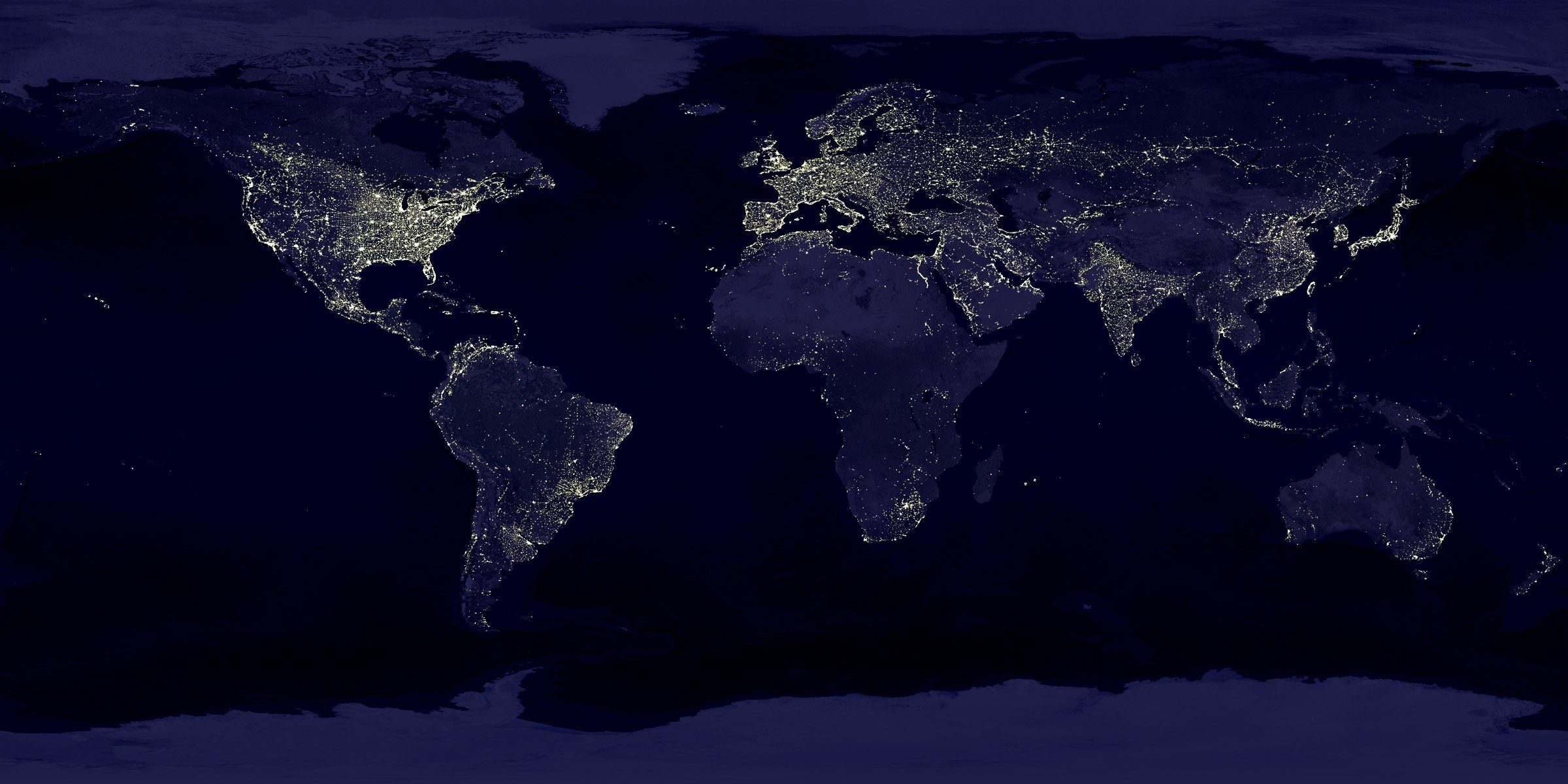 Global Network - Earth at night