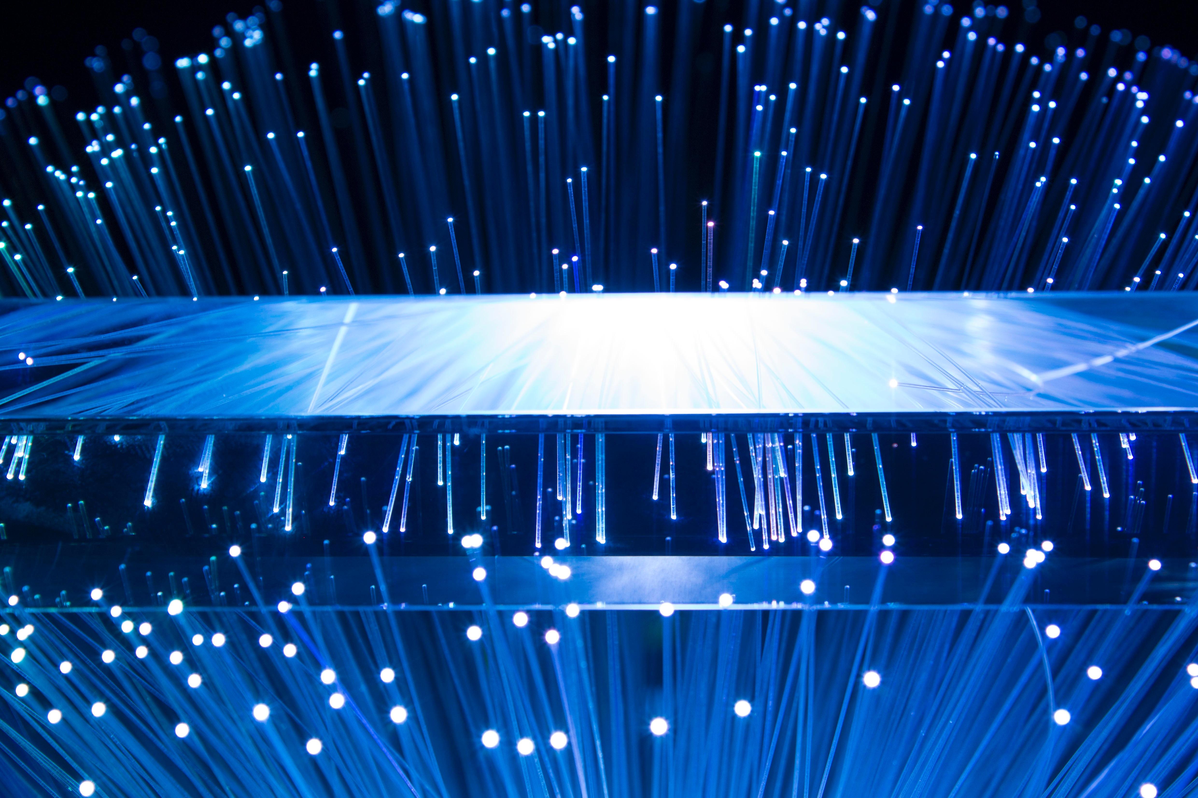 Blue Fiber Optic Image