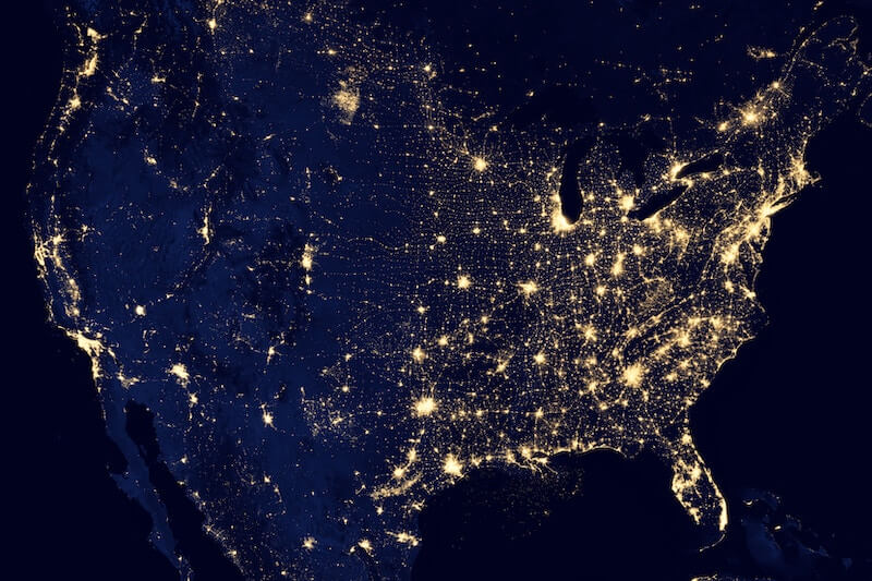 latency and data us map at night